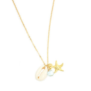 Collier aigue marine