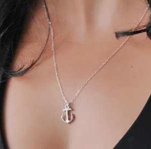 Collier ancre argent