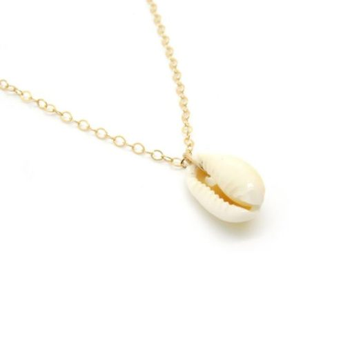 Collier fin femme or