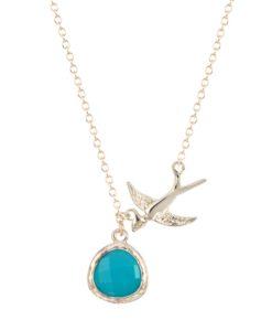 Collier pendentif oiseaux