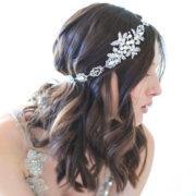 Bijoux de tête mariée romantique nude