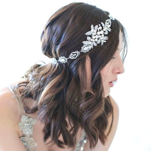 Bijoux de tête mariée romantique