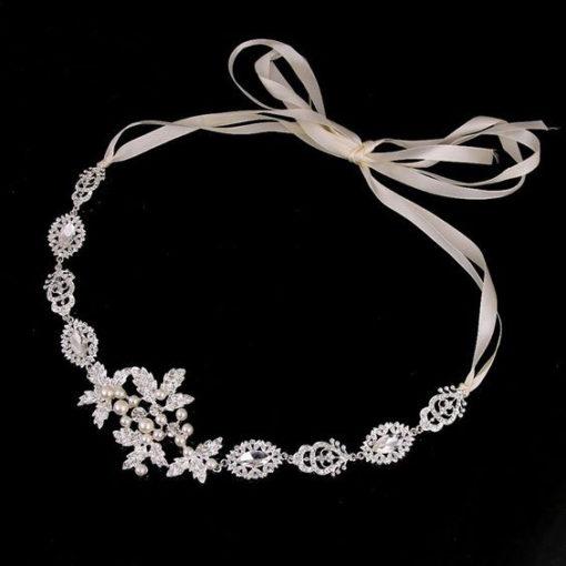 Bijoux de tête mariée romantique strass