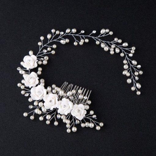 Bijoux de tête mariée fleurs