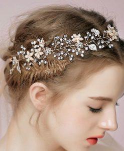 Bijoux de tête mariée romantique argent