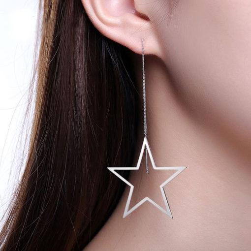 Boucles d'oreilles mariée étoile