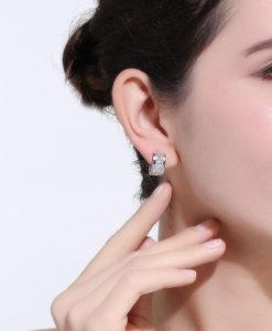 Boucles d'oreilles mariée tendance