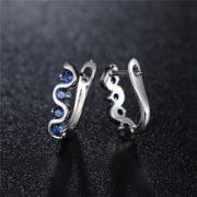 Boucles d'oreilles mariage bleu argent