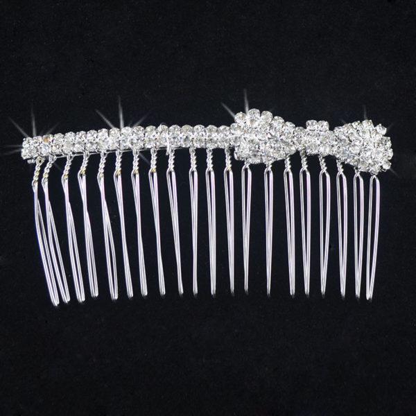 Peigne de mariée - Noeud Swarovski