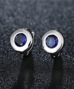 Boucles d'oreilles mariée bleu