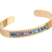 bracelet acier bleu 2