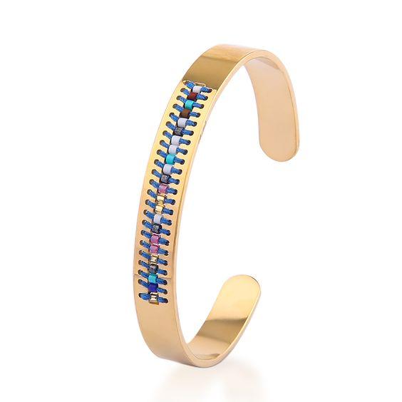 bracelet acier bleu