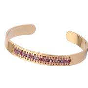 bracelet acier rose 1