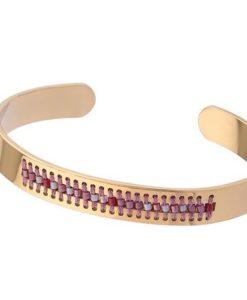 bracelet acier rose