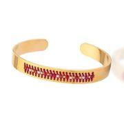 bracelet acier rouge 1