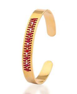 bracelet acier rouge