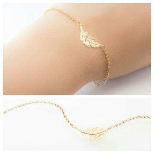 bracelet feuille pas cher
