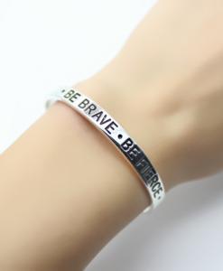 bracelet manchette argent