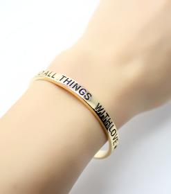bracelet manchette dore