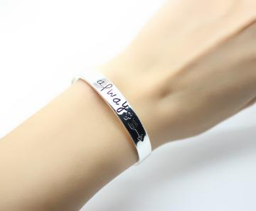 bracelet rigide argent femme