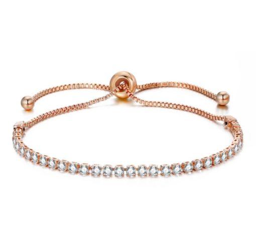 Bracelet fantaisie or rose