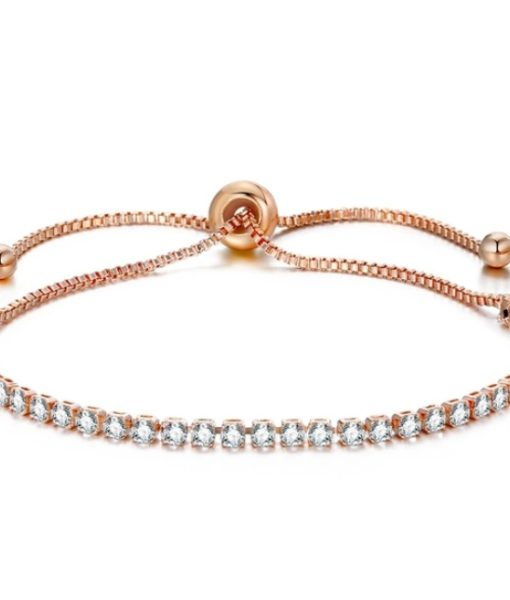 Bracelet fantaisie or rose