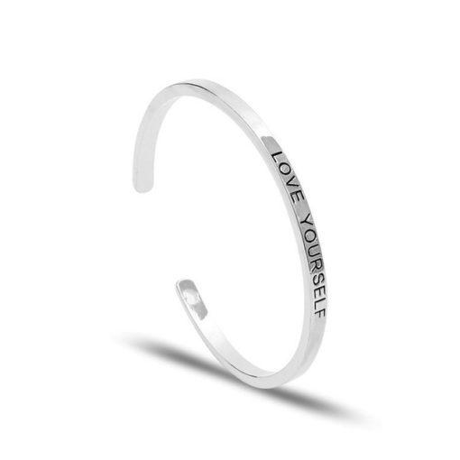Bracelet a message argent