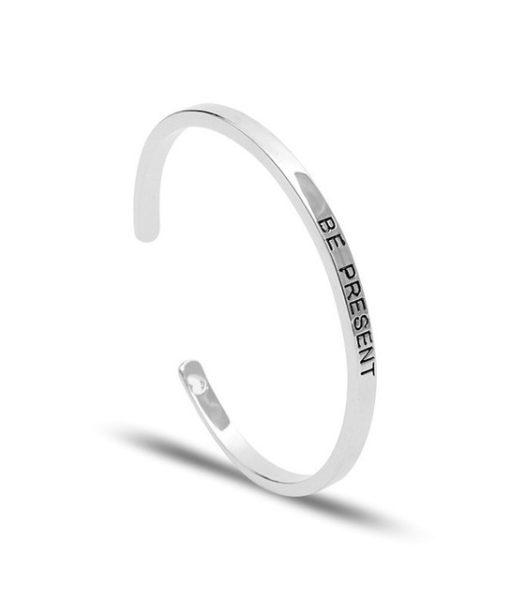 Bracelet a message argente