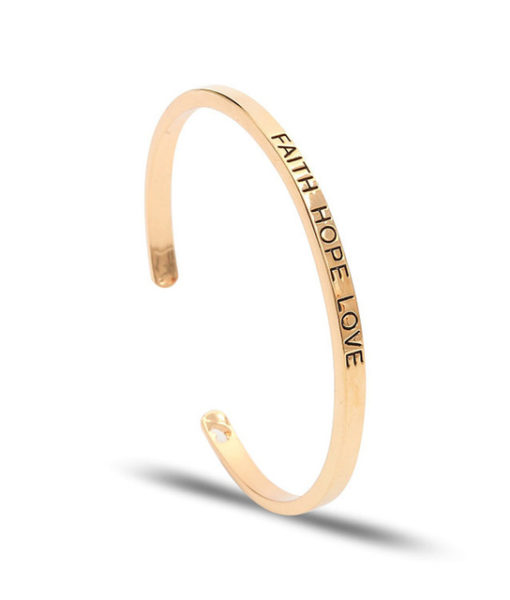 Bracelet jonc message