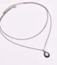 Collier boho-chic argent