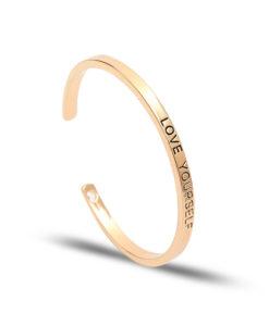 bracelet message jonc