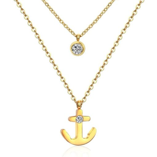 Collier marin ancre