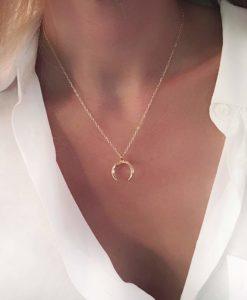 Collier cadeau anniversaire femme- corne lune