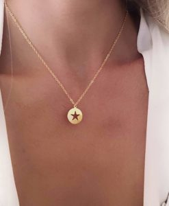 Collier cadeau original femme- or