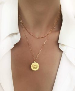 Collier fait-main medaille originale