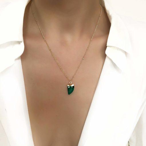 Collier pierre naturelle cadeau