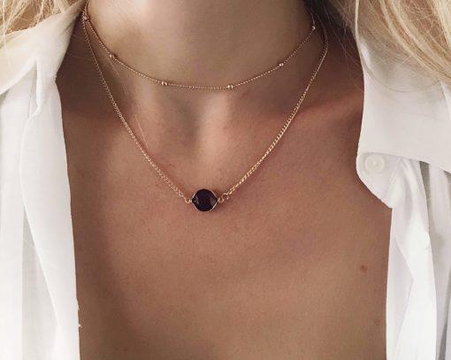 collier cadeau femme- deux rangs