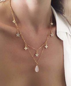 collier cadeau femme- petites etoiles