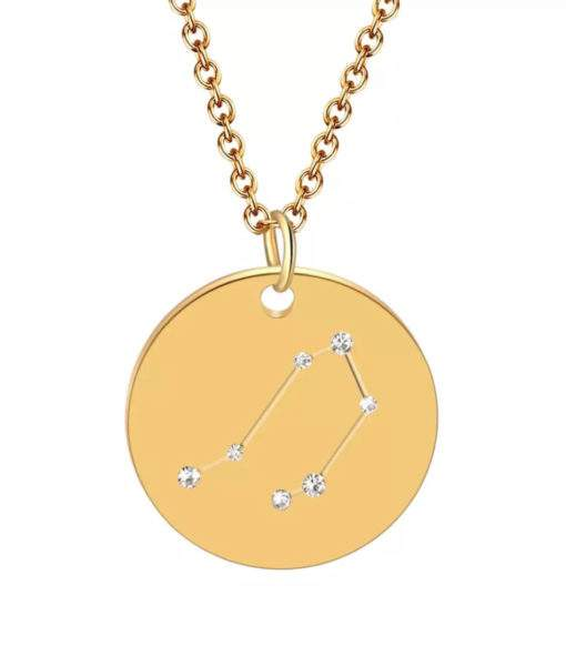 Collier constellation balance plaque or