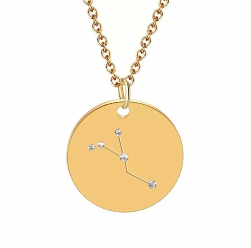 Collier constellation cancer plaque or