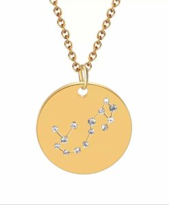 Collier constellation scorpion plaque or
