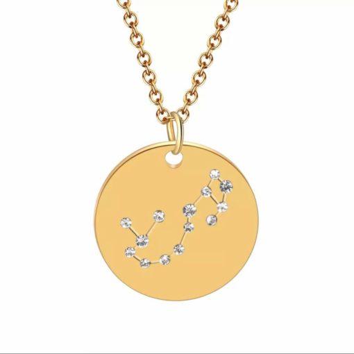 Collier constellation scorpion plaque or
