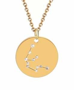 Collier constellation verseau plaque or