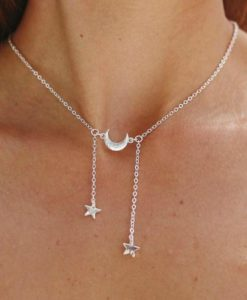idee cadeau femme-collier lune etoile
