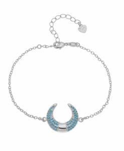Bracelet corne lune argent
