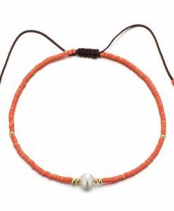 Bracelet femme corail