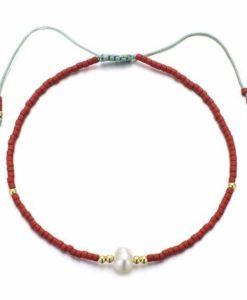 Bracelet femme rouge