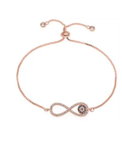 Bracelet infini or rose