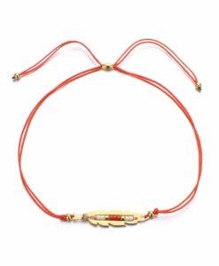 Bracelet plume dore