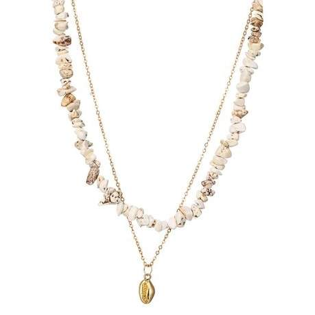 Collier coquillage blanc
